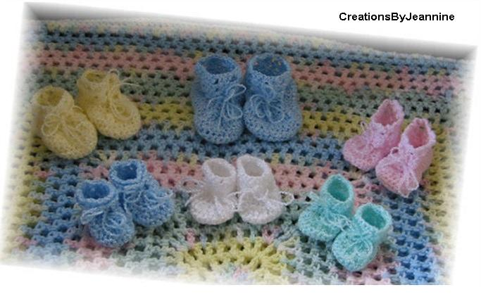 Thread Crochet Baby Booties Patterns Easy Crochet Patterns